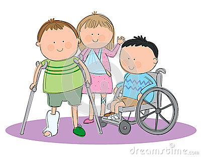 Group of sick kids