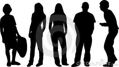 Group of silhouettes