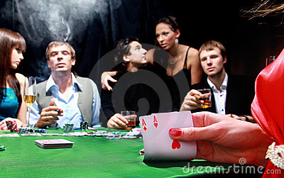 Group of sinister poker