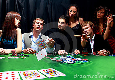 Group of sinister poker
