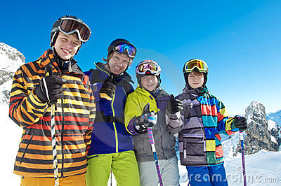 Group of skiers