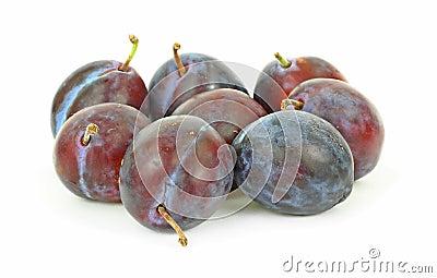 Group Small Italian Prune Plums