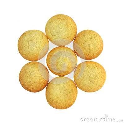 Group Small Lemon Cookies