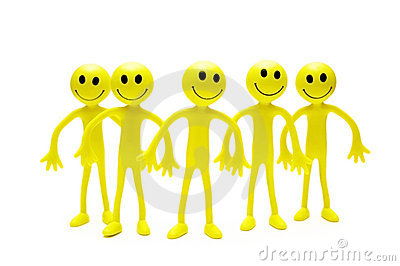 Group of smilies isolated