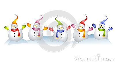 Group of Snowmen Snowman Clip Art