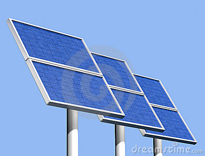 Group Of Solar Panels On A Clear Sunny Day Royalty Free Stock Images - Image: 11280959