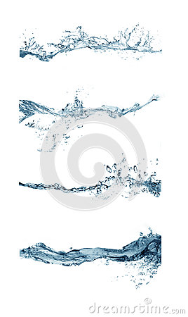 Group of splashing water