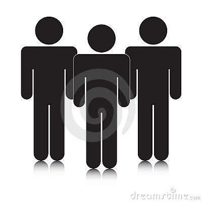 Group of stickmen silhouettes