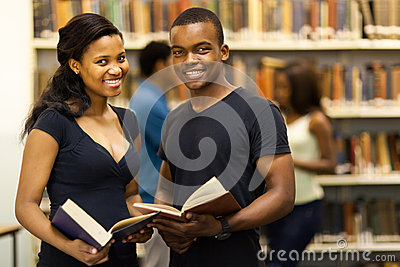 Group students library