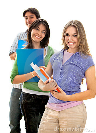 Group of students with notebooks