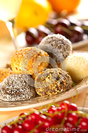 Group of sweet balls