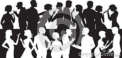 Group of talking people