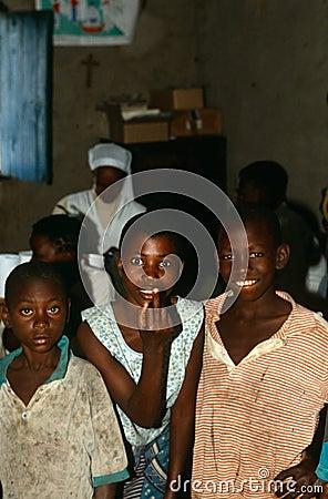 A group of teenage boys in Burundi. Editorial Photography