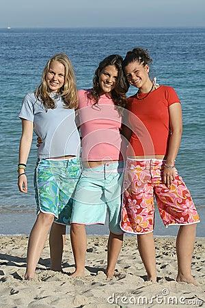 group teenagers beach t shirts