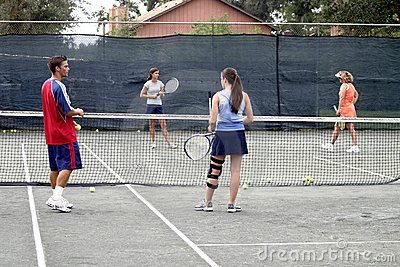 Group of tennis players