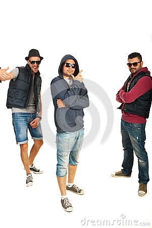 Group of three hip hop dancers