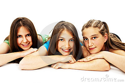 Group Of Three Young Girls