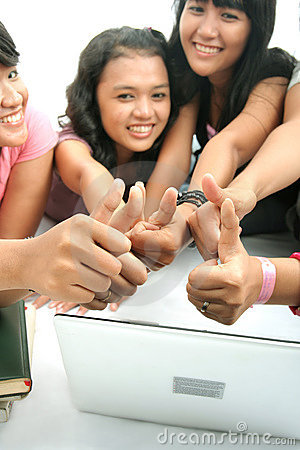 Group thumb up