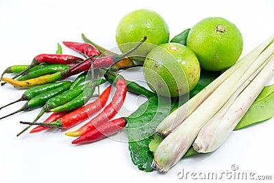 Group of Tomyum(Thai food) ingredients