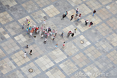 Group of tourists Editorial Stock Image