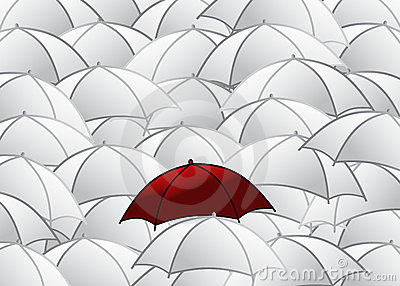 Group of umbrellas