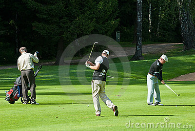 Group unknown golfer Editorial Stock Image