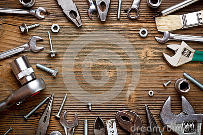 Group of used tools
