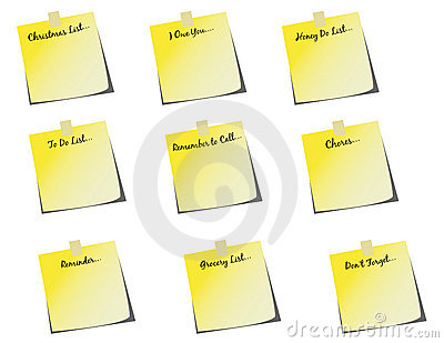 Group of Various Sticky Notes! vector / clip art