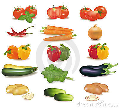 Group of vegetables.