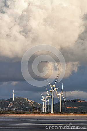 Group of Wind Power Installations in Sunrise