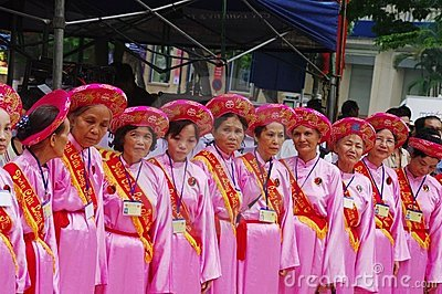 Group of women in Ao Dai Editorial Photo