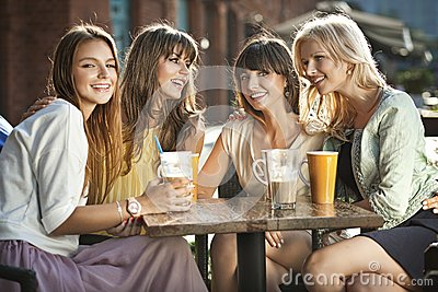 A group of women in the coffee shop