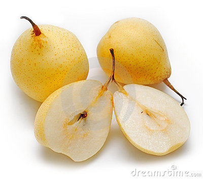 Group of yellow pears