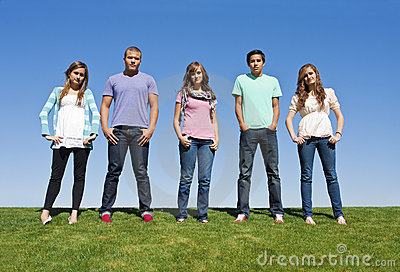 Group of Young Adults or Teenagers