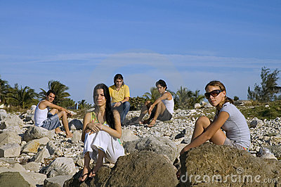 Group of young friends