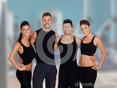 Group of young people in the gym