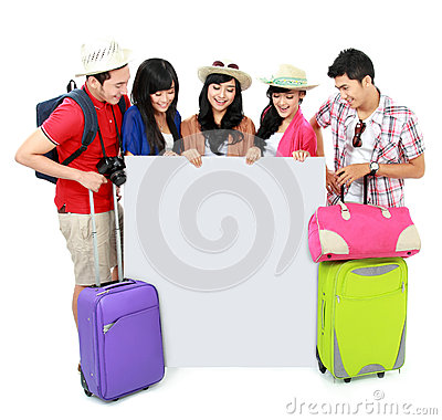 Group of young tourist