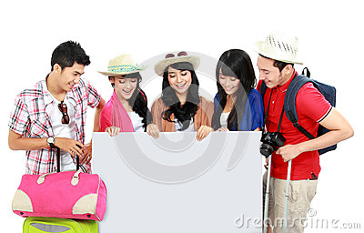 Group Of Young Tourist Royalty Free Stock Photos - Image: 29363078