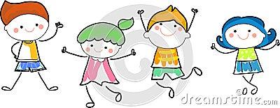 Groupe d 39 enfants croquis de dessin illustration de vecteur image 63857069 - Dessin groupe d enfants ...