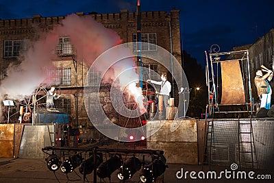 Groupe Titanic de l Allemagne dans le spectacle Photographie éditorial
