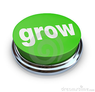 Free Grow Button - Green Stock Photos - 8800283