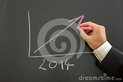 Growing business graph