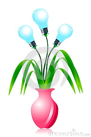 Growing energy light bulbs.