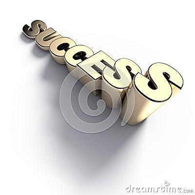 Growing golden success word