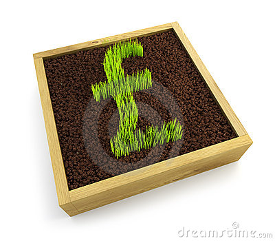 Growing pound symbol
