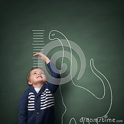 Free Growing Up Taller Than A Dinosaur Stock Image - 36801621
