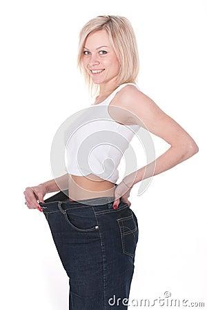 Grown thin girl