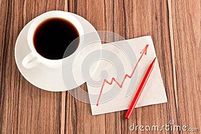 Growth chart on a napkin