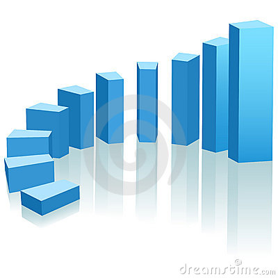 Free Growth Chart Upward Progress Arc Royalty Free Stock Photos - 12082328