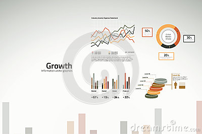 Growth charts and graphs for business